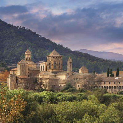 General view of the Monastery of Poblet from Les Masies. (© Josep M. Palau Riberaygua)