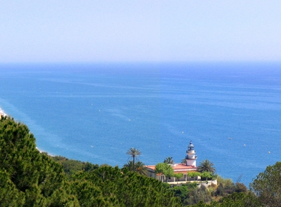 Views of the sea and the Lighthouse of Calella. (© Ajuntament de Calella)